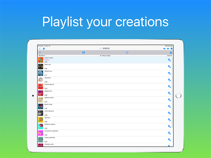 Wotja: Playlist your creations