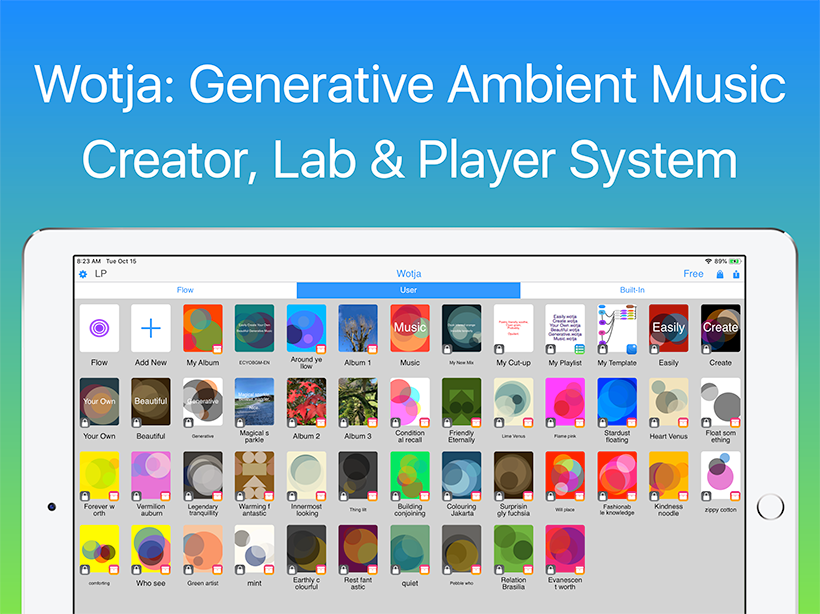 Wotja: Generative Ambient Music | Creator, Lab & Player System