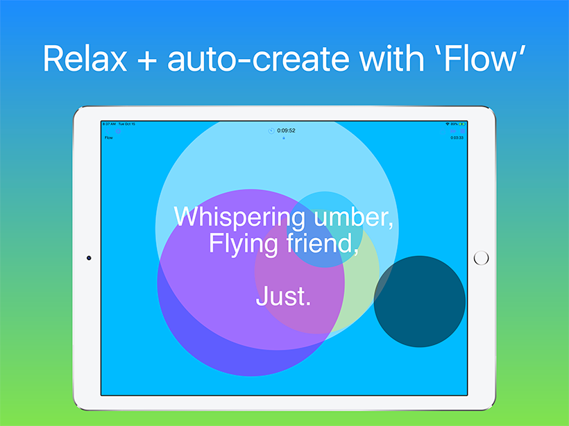 Wotja: Relax + auto-create with 'Flow'